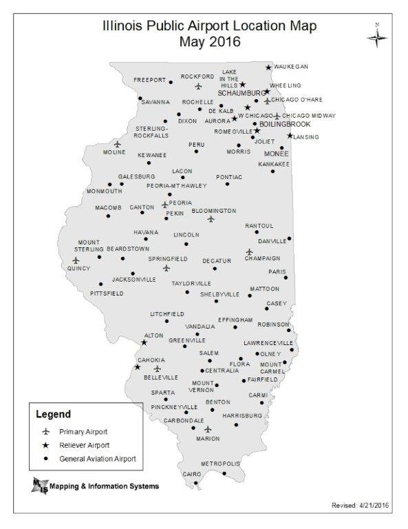 Airports In Illinois Map Annual Airport Improvement Program