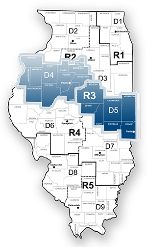 IDOT Region 3 on illinois farm, florida dot district map, illinois state, illinois congressional representatives, illinois house of representatives district map, illinois counties,